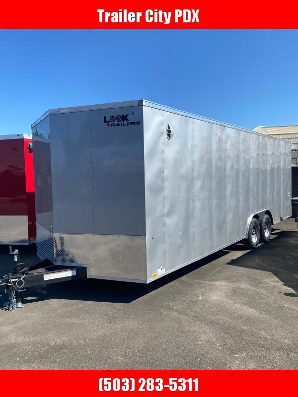 2022 Look Trailers 8.5X24 RAMP SILVER Enclosed Cargo Trailer