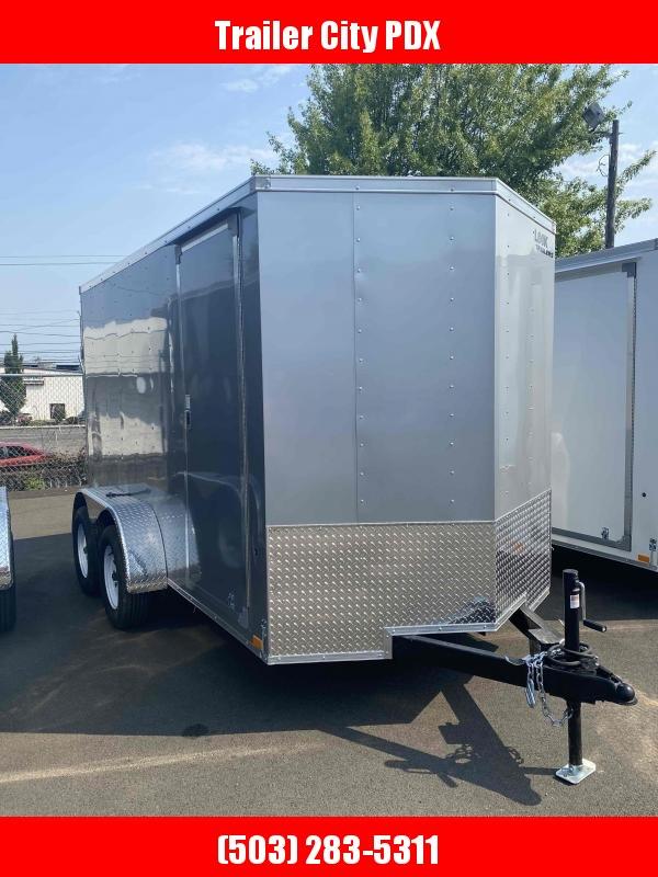 6 x 12 7k RAMP SILVER ENCLOSED Enclosed Cargo Trailer