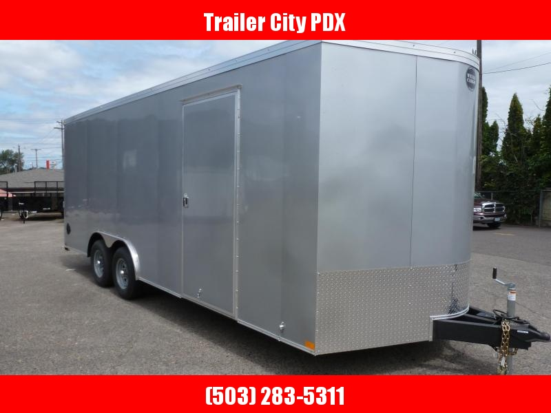 2020 Wells Cargo 8.5 X 20 ROAD FORCE RAMP SILVER FROST Enclosed Cargo Trailer