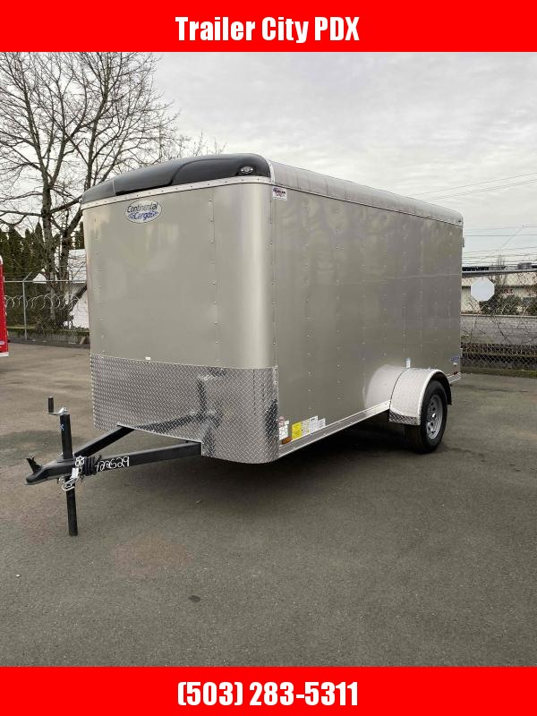 2021 Continental Cargo 6X12 3K RAMP CHAMPAGNE BEIGE Enclosed Cargo Trailer