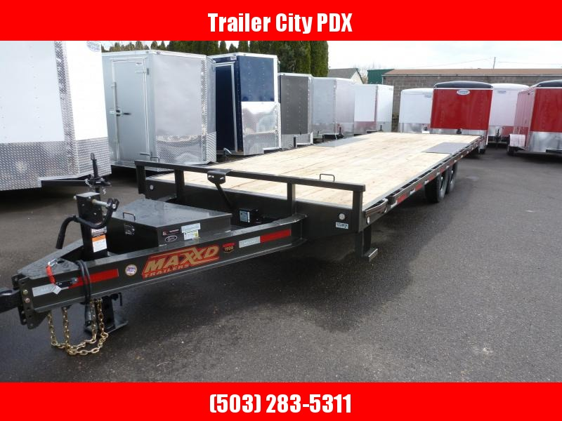 "MAXXD 24' X 102"" 14K I BEAM DECKOVER Equipment Trailer"