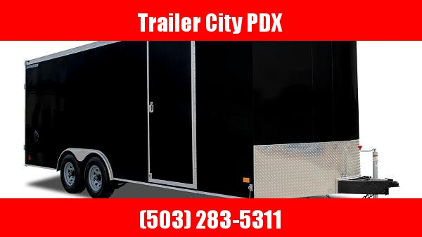 2021 Wells Cargo RFV8.5 X 24 10K BLACK RAMP ROAD FORCE Enclosed Cargo Trailer