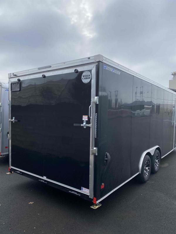 2021 Wells Cargo RFV8.5 X 24 10K BLACK RAMP ROAD FORCE Enclosed Cargo Trailer