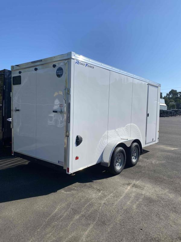 2022 Wells Cargo 7 X 16 RAMP TALL WHITE Enclosed Cargo Trailer