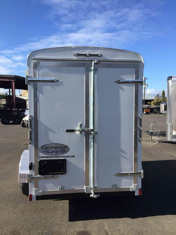 2021 Continental Cargo 5X8 3K CARGO DOORS WHITE Enclosed Cargo Trailer