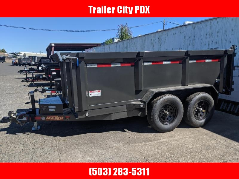 MAXXD D7X - 6 X 12 12K DUMP 3'SOLID SIDES Trailer Dump Trailer