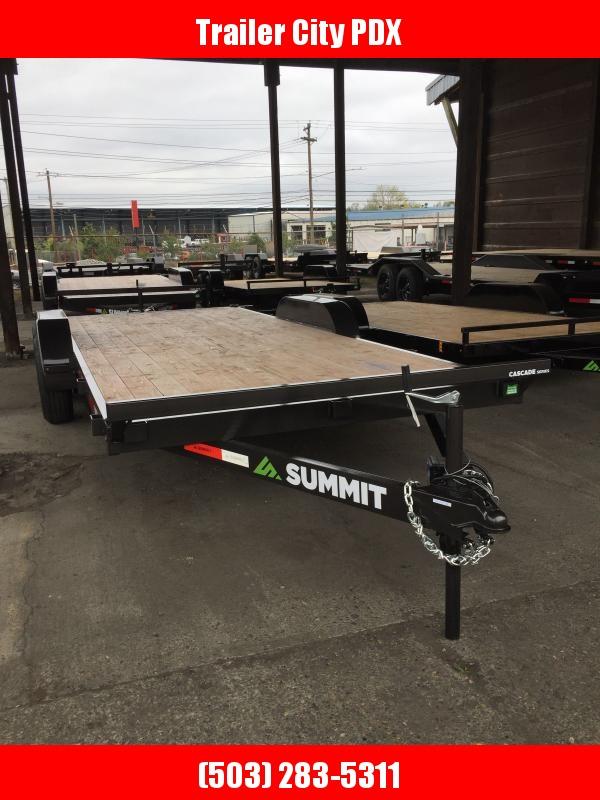 """2021 Summit 7 X 18 10K Cascade 5"""" Flatbed 10K Equipment Trailer"""
