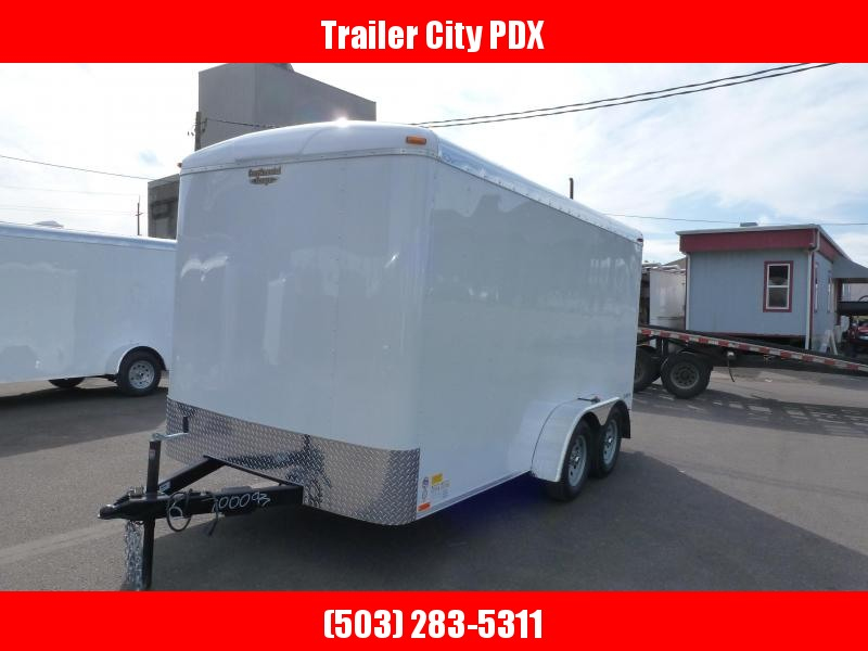 2021 Continental Cargo 7 X 14 7K RAMP WHITE Enclosed Cargo Trailer