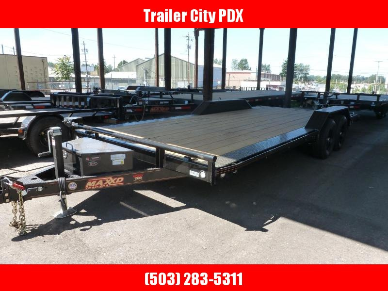 "MAXXD 8.5x20 10k H5X - 5"" Channel Buggy Hauler Flatbed Trailer"
