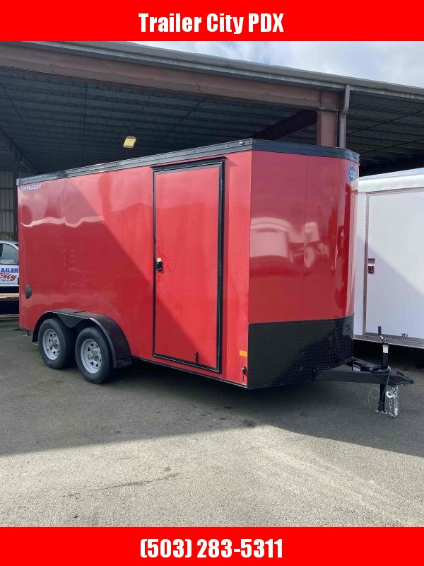 2021 Wells Cargo 7X14 7K ROAD FORCE RAMP VICTORY RED Enclosed Cargo Trailer