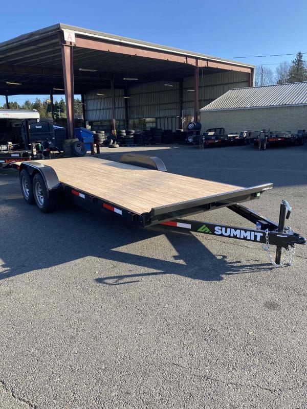 "Summit 7 X 18 10K FLATBED CASCADE 5"" Flatbed Trailer"