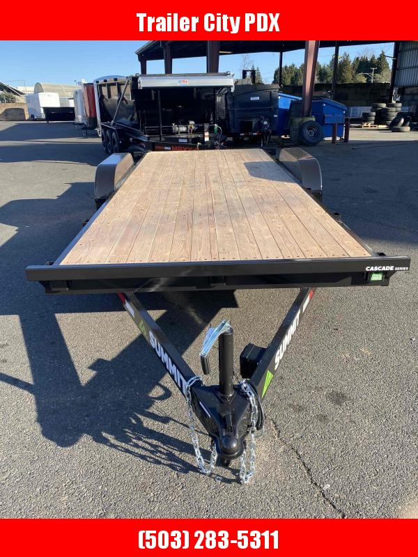 "Summit 7 X 18 10K FLATBED CASCADE 5"" Flatbed Trailer"