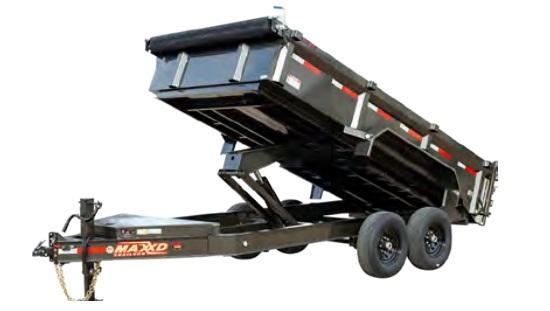 "2021 MAXXD 7 X 14  17.5K DJX - 83"" I-Beam Dump Trailer"