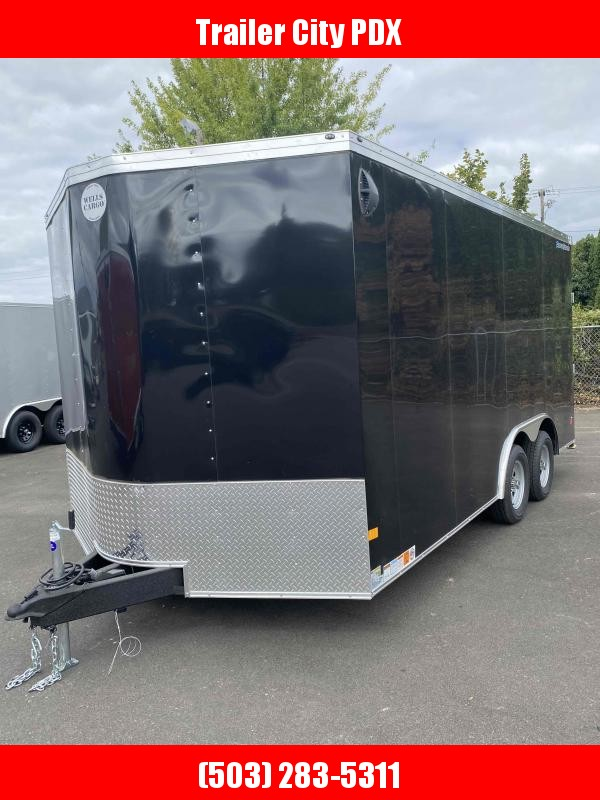 2021 Wells Cargo 8.5 X 16 7K RAMP BLACK Enclosed Cargo Trailer