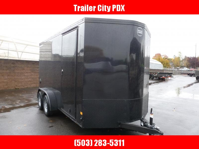 2021 Wells Cargo 7X14 7K ROAD FORCE RAMP BLACK PHANTOM Enclosed Cargo Trailer