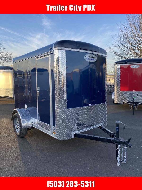 2021 Continental Cargo 5X8 3K INDIGO BLUE RAMP Enclosed Cargo Trailer