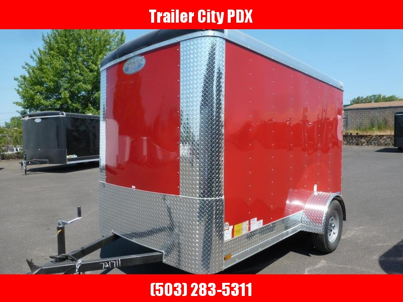 2020 Continental Cargo 6 X 10 RED RAMP Enclosed Cargo Trailer