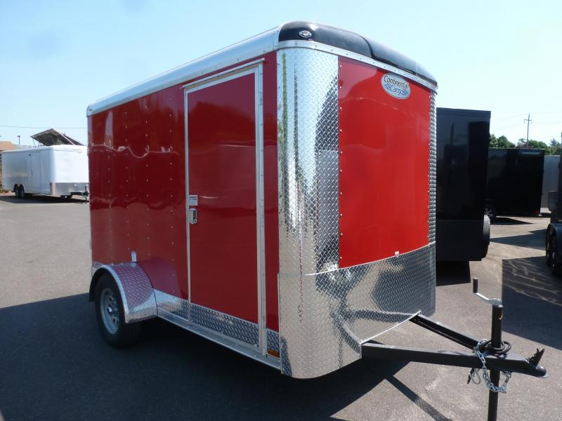 2020 Continental Cargo 6 X 10 RED RAMP Enclosed Cargo Trailer