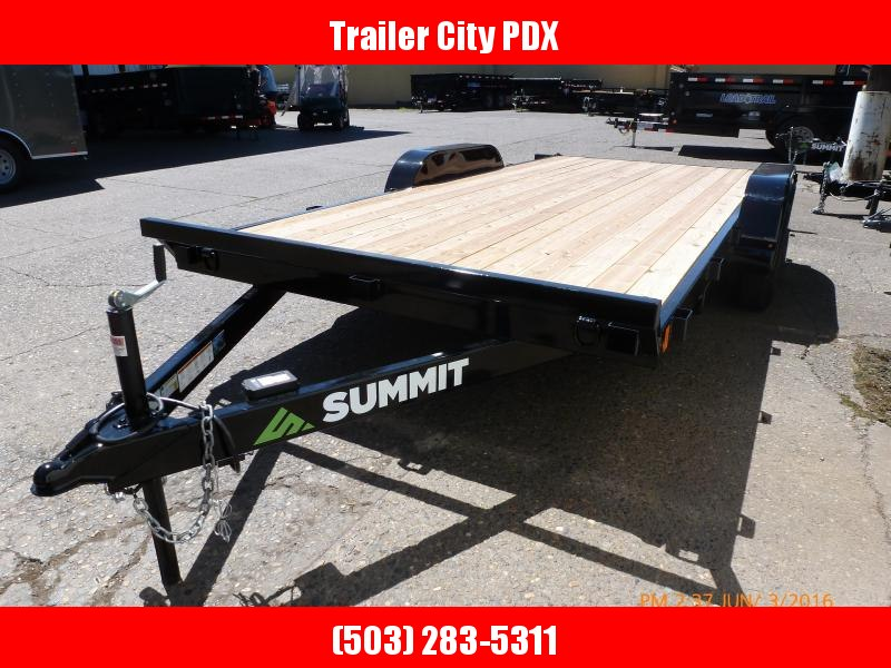 Summit 7x16 7k Flatbed w/Ramps