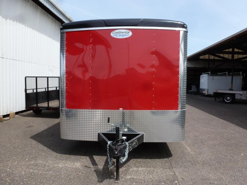 2020 Continental Cargo 8.5 X 24 10K TALL CAR HAULER RED Enclosed Cargo Trailer