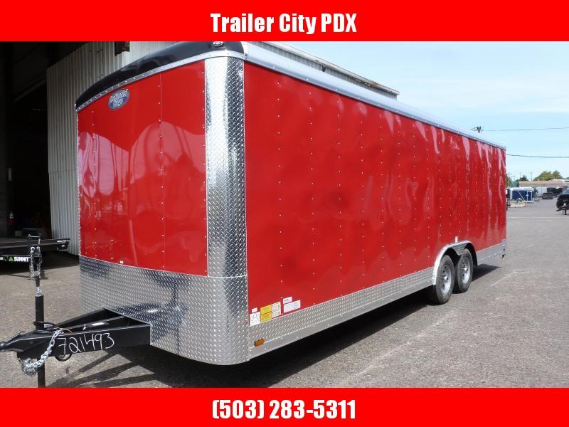 2020 Continental Cargo 8.5 X 24 10K TALL CAR HAULER RED Enclosed Cargo Trailer