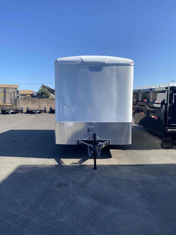2022 Continental Cargo 7 X 14 CARGO TALL WHITE Enclosed Cargo Trailer
