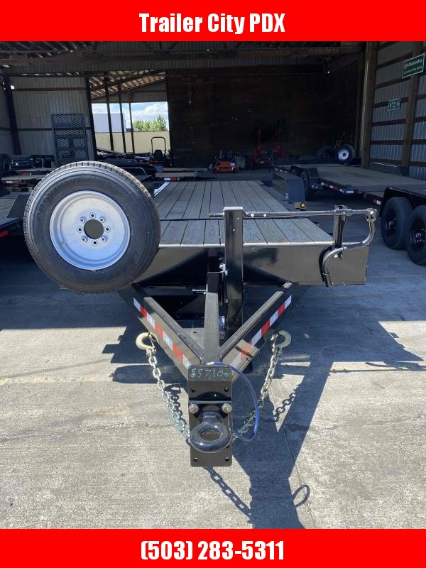 Behnke 7 X 24 24K SPLIT TILT SPARE TIRE Equipment Trailer