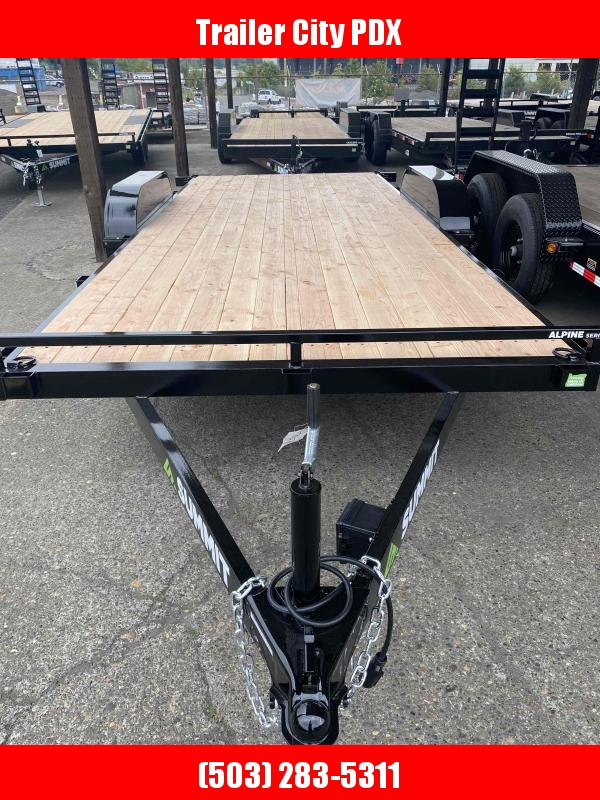 Summit 7X18 7K FLATBED REMOVABLE FENDERS Equipment Trailer