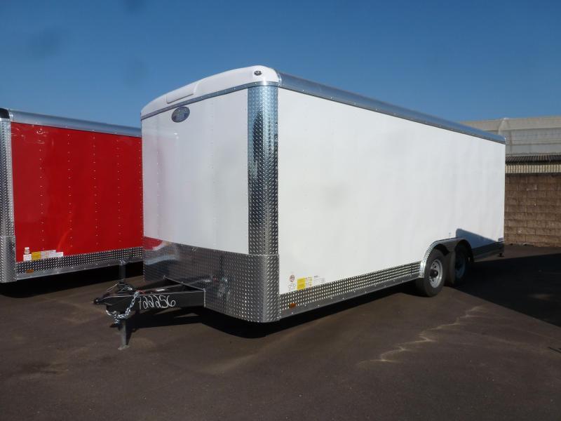 2021 Continental Cargo 8.5 X 20 10K RAMP WHITE Enclosed Cargo Trailer