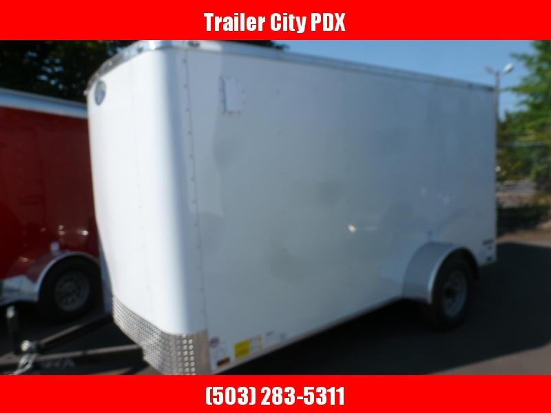 2020 Continental Cargo 6 X 12 RAMP WHITE Enclosed Cargo Trailer