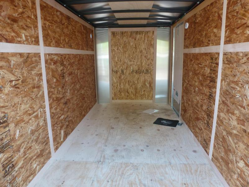 2020 Continental Cargo 6 X 12 RAMP WHITE Enclosed Cargo Trailer