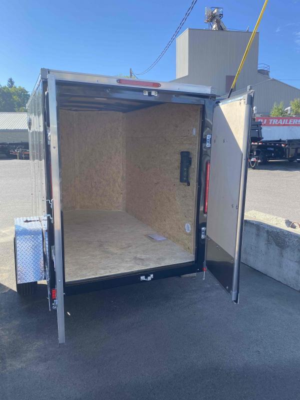 5.0X08 3K CARGO DOORS BLACK Enclosed Cargo Trailer