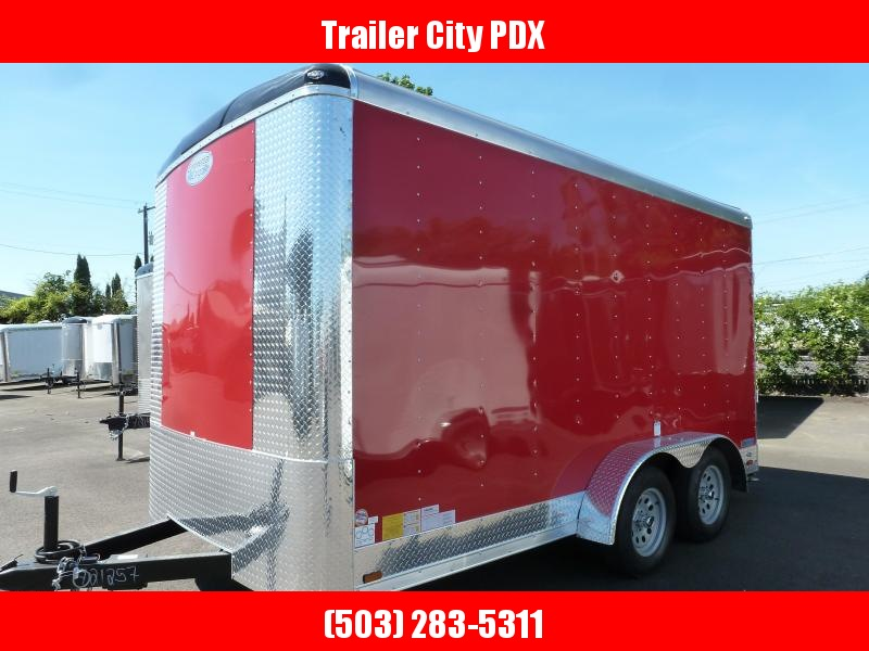 2020 Continental Cargo 7 X 14 7K RAMP TALL RED Enclosed Cargo Trailer