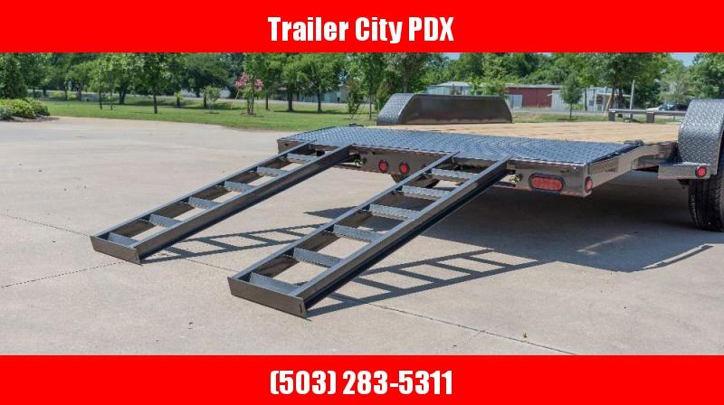 """2021 MAXXD 7 X 18 10K-C5X - 5"""" Channel Car Hauler Flatbed Trailer"""