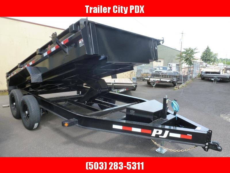 PJ Trailers 7 x 14 14k Low Pro  Dump Trailer