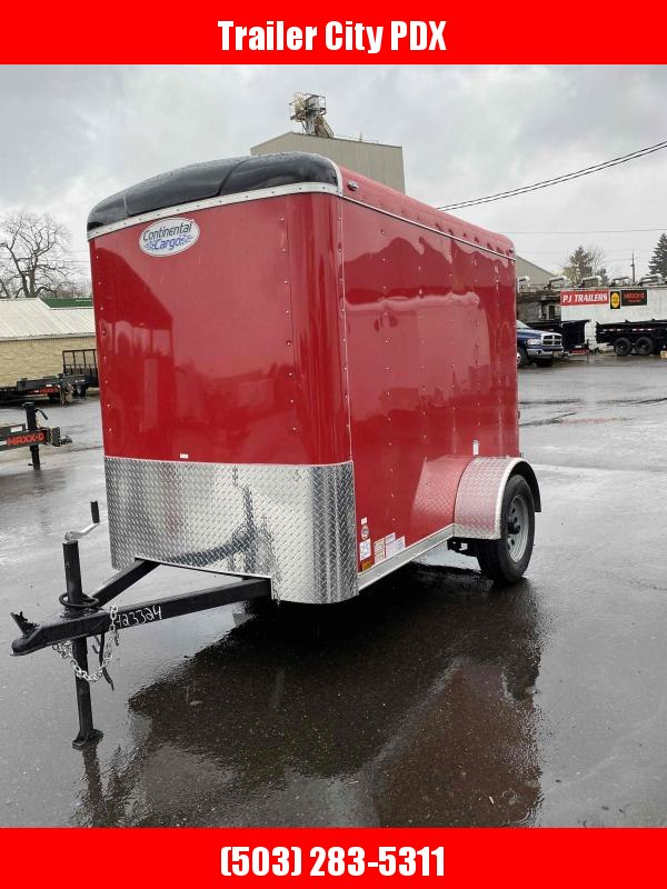 2021 Continental Cargo 5X8 3K CARGO DOORS RED SUPER TALL Enclosed Cargo Trailer