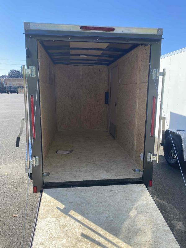 5.0 X 10 3K RAMP CHARCOAL Enclosed Cargo Trailer
