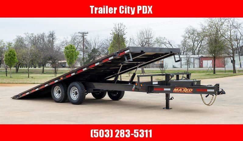 "2021 MAXXD 22' X 102"" TOX - 14K Power Tilt Deckover Trailer Flatbed Trailer"