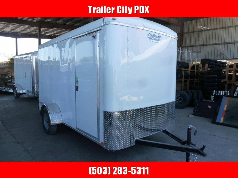 2021 Continental Cargo 6 X 12 3K CARGO DOORS WHITE Enclosed Cargo Trailer