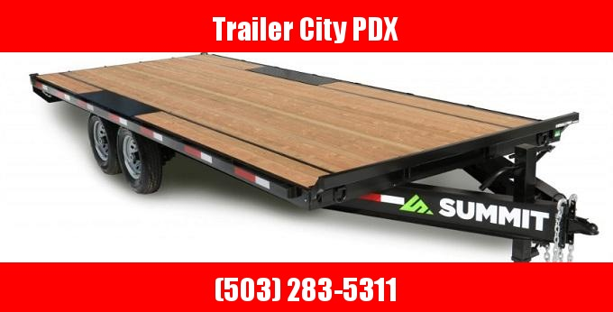 2021 Summit 8.5 X 20 14K Denali Pro Series Deckover 14K Equipment Trailer
