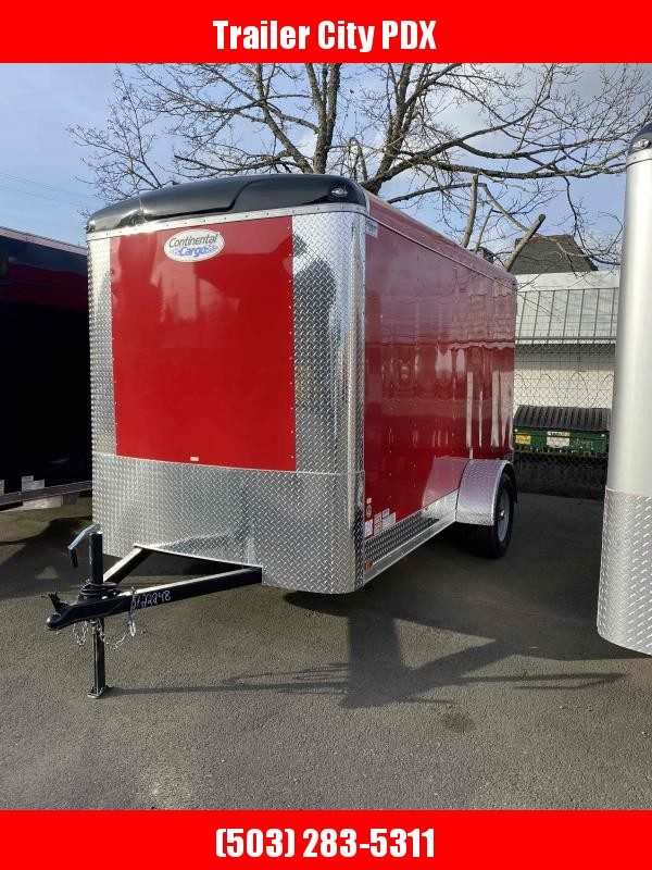 2021 Continental Cargo 6X12 3K CARGO DOORS RED Enclosed Cargo Trailer