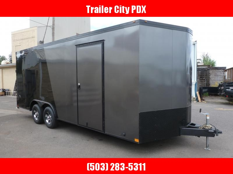 2020 Wells Cargo 8.5 X 20 10K CHARCOAL. BLACK V-FRONT RAMP Enclosed Cargo Trailer