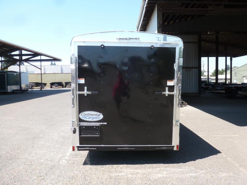2020 Continental Cargo 6 x 12 3k TALL RAMP BLACK Enclosed Cargo Trailer