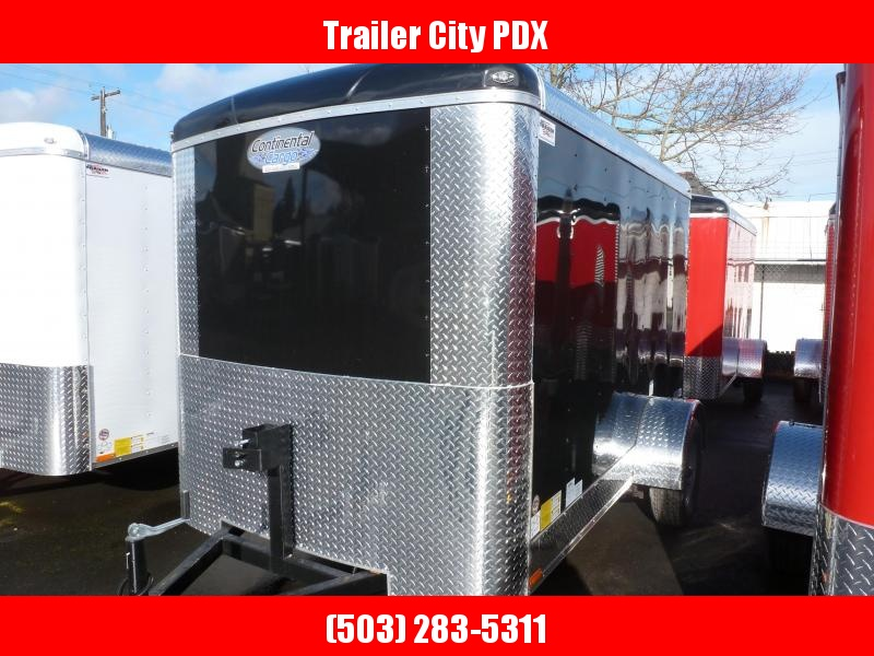 2021 Continental Cargo 6X10 3K BLACK RAMP Enclosed Cargo Trailer