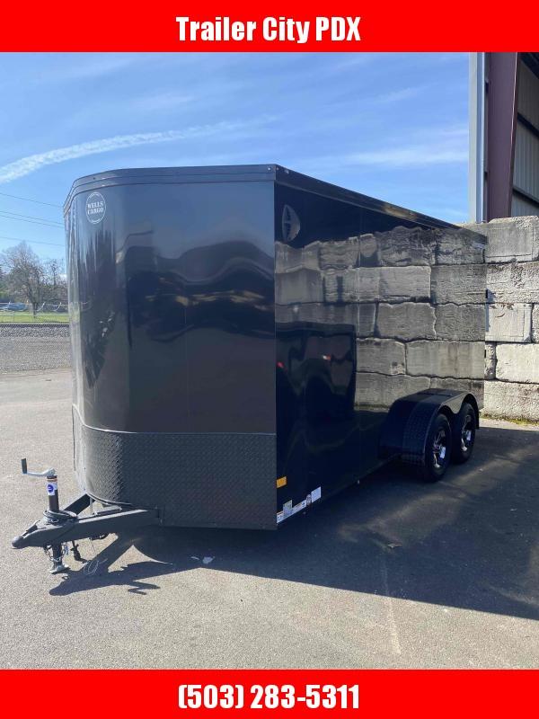 2021 Wells Cargo 7 X 16 7K RAMP PHANTOM BLACK Enclosed Cargo Trailer
