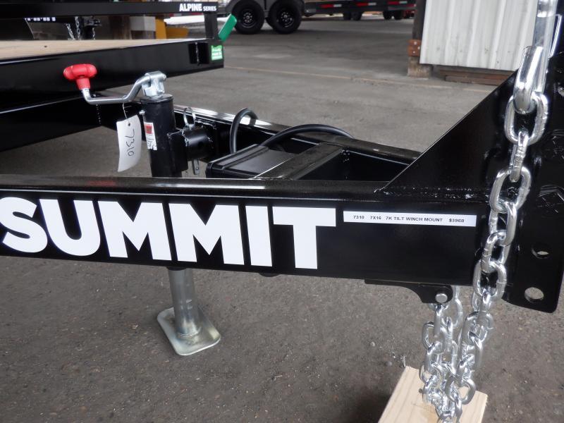 2020 Summit 7 X 16 7K TILTBED ALPINE  Utility Trailer