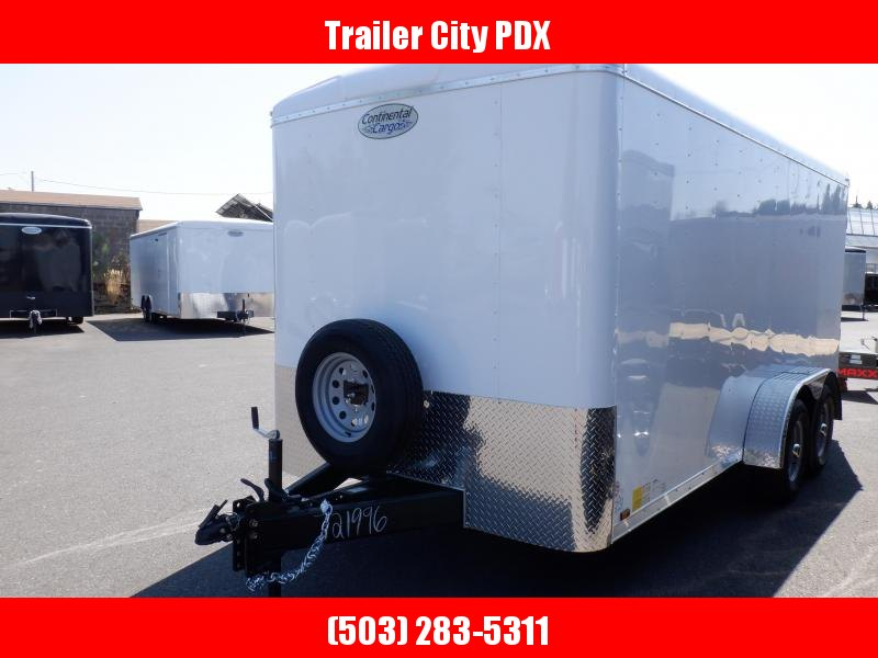 2020 Continental Cargo 7 X 14 7K RAMP WHITE Enclosed Cargo Trailer