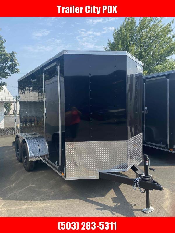 6 X 12 7K RAMP ENCLOSED BLACK Enclosed Cargo Trailer