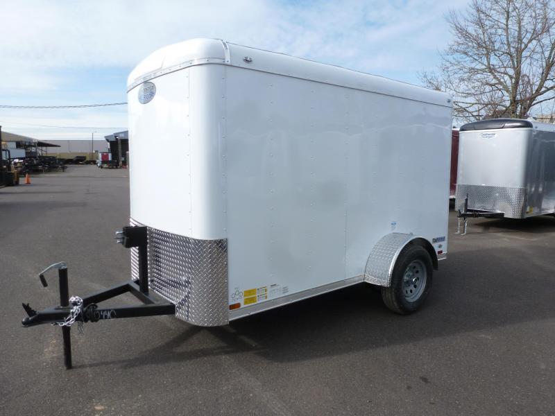 2020 Continental Cargo 5 X 10 3K SUPER TALL RAMP WHITE Enclosed Cargo Trailer