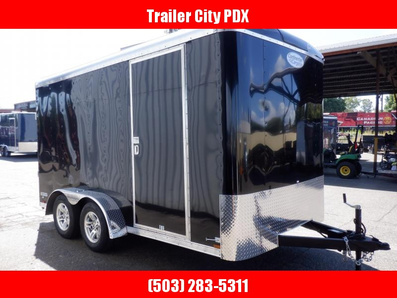 2020 Continental Cargo 7 X 14 7K TALL RAMP BLACK Enclosed Cargo Trailer
